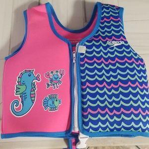 Hot pink swim vest